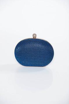 Kék alkalmi táska hosszú lánc típusú pánt valamint rövid