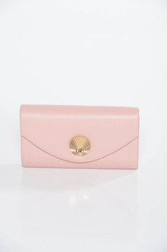 Rózsaszínű táska műbőr hosszú lánc típusú pánt valamint rövid