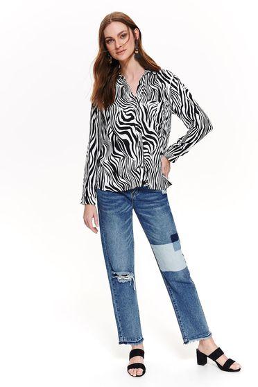 Fekete Top Secret casual bő szabású női ing lenge anyagból hosszú ujjakkal 3eb3db7c12