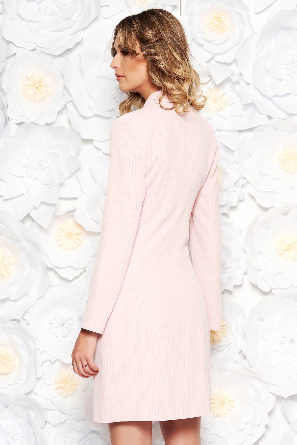 d5aee9ef66 Rózsaszínű LaDonna irodai zakó tipusú ruha rugalmatlan szövet belső béléssel  zsebes ...