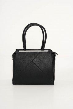 Fekete irodai táska műbőr rövid fülekkel