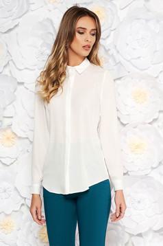Fehér StarShinerS elegáns bő szabású női ing lenge anyagból