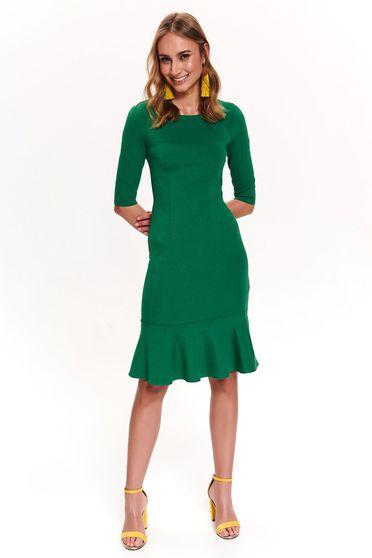 02eb4136b1 Zöld Top Secret hétköznapi ruha 3/4-es ujjakkal szűk szabás fodrok a ruha