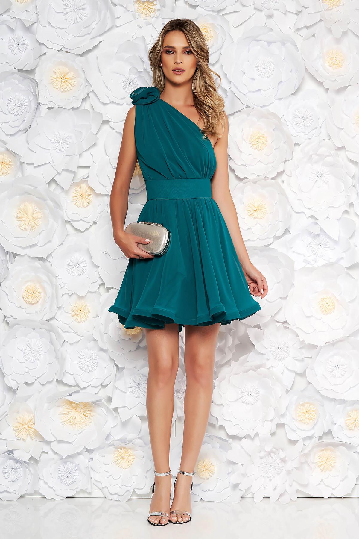 86c3e7f654 Fekete PrettyGirl ruha hétköznapi midi enyhén rugalmas anyag ...